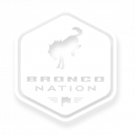 bronco nation badge white